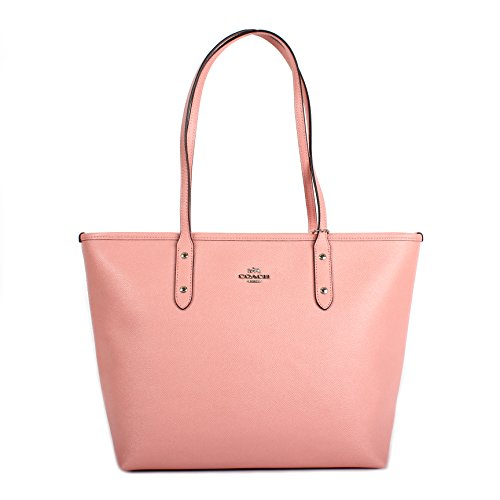 Pink Coach Purse - Coach Crossgrain Leather City Zip Tote F57522 Blush Pink