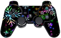 Neon Snowflakes Snowflake PS3 Dual Shock wireless controller Vinyl Decal Sticker Skin by Moonlight Printing