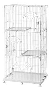 IRIS 3-Tier Wire Cat Cage, White