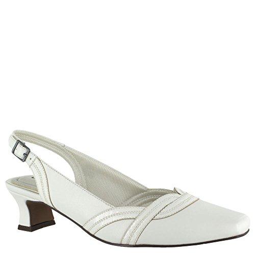 Easy Street 30-8200 Womens Fantastisk Sandal Hvit / Hvit Patent Slange