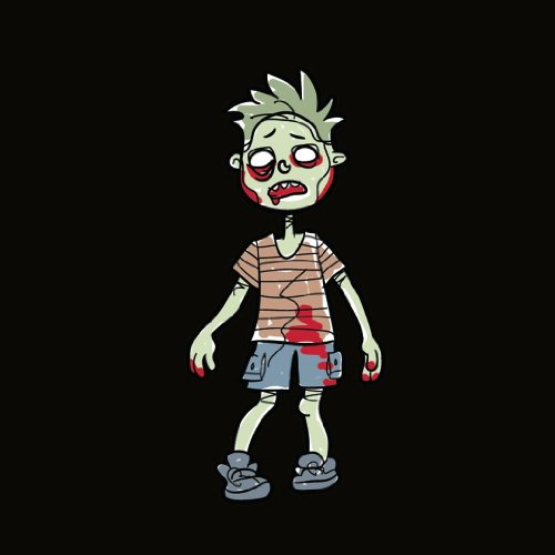 [Family Car Stickers 4.4 inches tall Vinyl Auto Decal, Zombie Toddler Boy / Boy Kid (Made in the] (Zombie Family Decals)