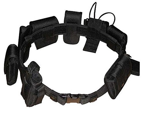 (10 Piece Tactical SWAT Police Security EMS Belt Duty Rig System w Pouches)