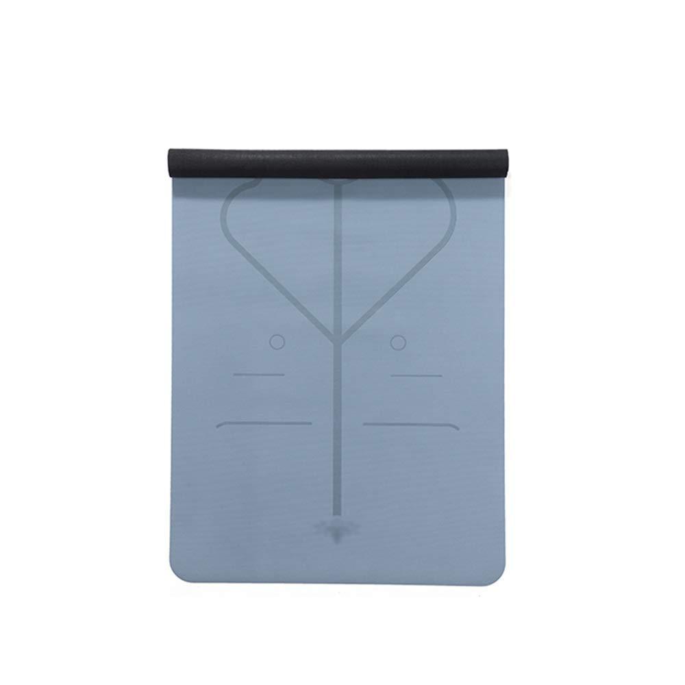 XF ヨガ マット ヨガマット - 天然ゴム、アライメントマーキングシステム付き、滑り止め、伸縮、男性と女性のヨガマットトラベルポータブルパッド、サイズ:183cmX68cm フィットネストレーニング (色 : B) B07MH9CDS3 A A