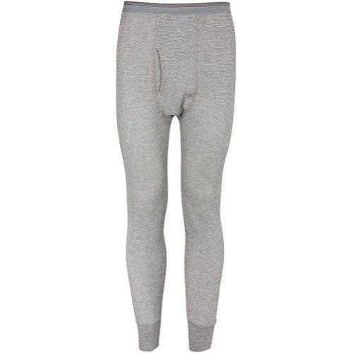Indera - Mens Thermal Long John Pant 810DR , Grey 27466-