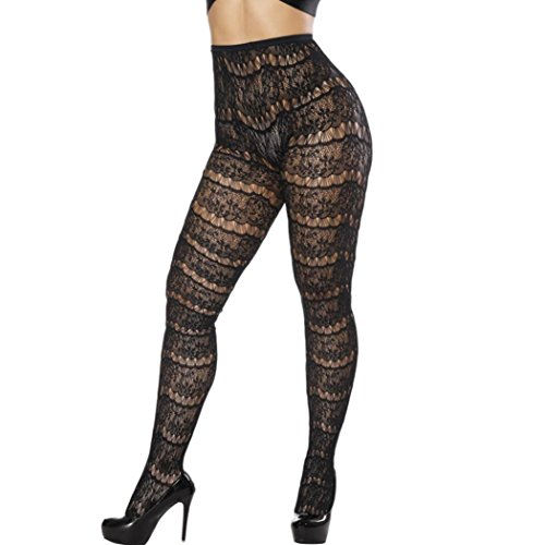 (Promotions! Tootu Ladies Sexy Sexy Net Pants Jacquard Pantyhose Oversized Fat (Free Size, A))