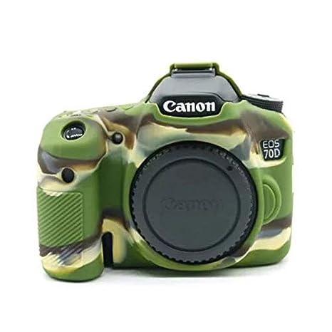 Funda de Silicona Carcasa de Silicona para cámara Canon EOS 70D ...