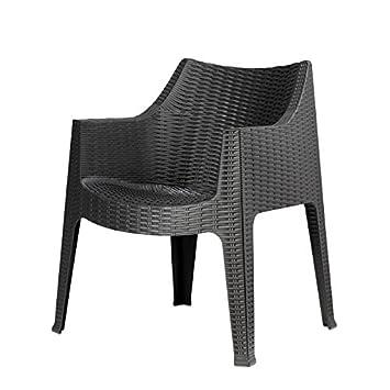 Idea Sillas Bar 4, sillones de Polipropileno para Exteriores ...