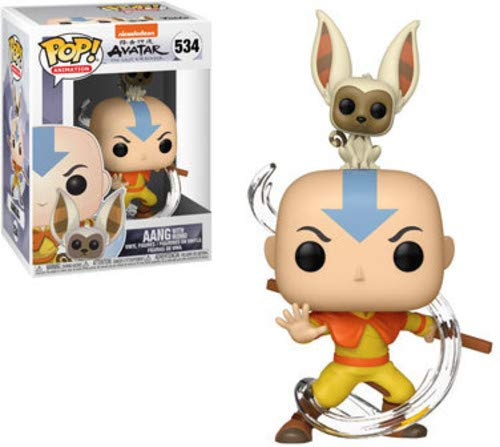 Pop Avatar Aang with Momo Vinyl Figure