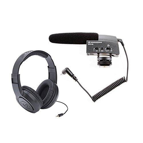 Sennheiser MKE400 Shotgun Tascam Headphones