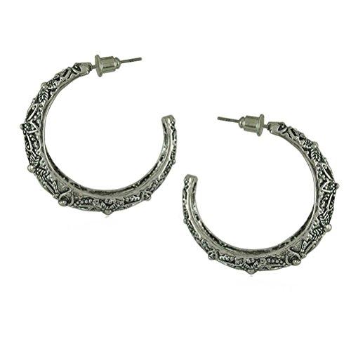 SunIfSnow Women Metal Bohemia Flowers Ear Clip Ear Hook Earring