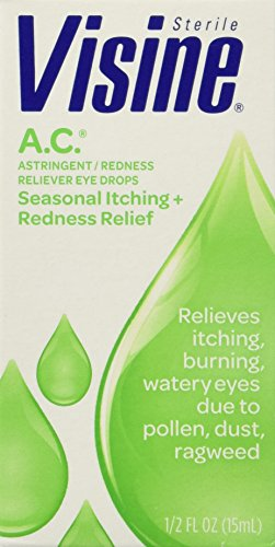 Astringent Redness Reliever Eye Drops Visine - Visine A.C. Astringent Redness Reliever Eye Drops - 0.5 Oz (15 Ml)