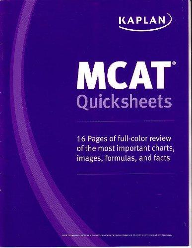 Kaplan mcat quick sheets