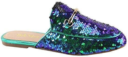 Loafer Sequin Shoe Slip Women Mule Slipper Marie Sparkle Slide Gemma On Hologram Flat Oxford Bella 20 wqvORUn