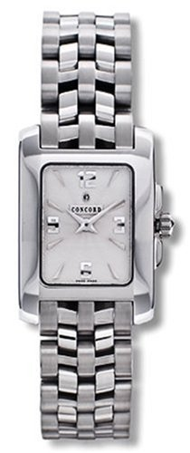 Concord Sportivo Ladies' Watch Stainless Steel Silver Guilloche Dial 0310404