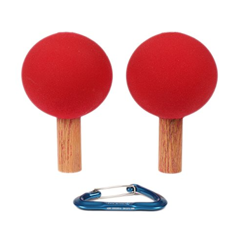 Peg Board Bombs / Balls 4.5'' (Set Of 2) | Climbing Holds | Red by Atomik Climbing Holds