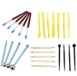 25 PCS Indentation Pen Ceramic Tools Carved Clay Combination