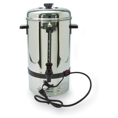 "36 Cup Urn, High-Capacity, 11""x11""x18"", Stainless Steel CFPCP36"