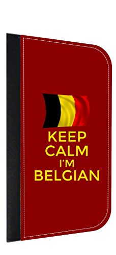 (Keep Calm I'm Belgian Leather and Suede PU Case Compatible with the Apple iPad 2 /iPad 3/ iPad 4)