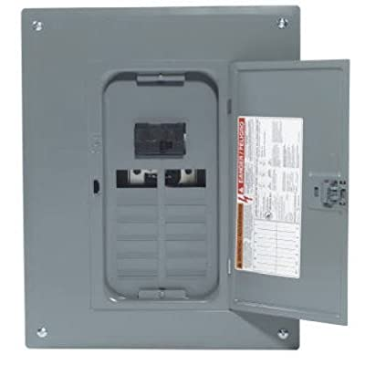 Square D by Schneider Electric HOM1224M100PC Homeline 100 Amp 12-Space 24-Circuit Indoor Main Breaker Load Center with Cover (Plug-on Neutral Ready), ,