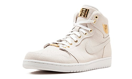 Nike Air Jordan 1 Pinnacle, Men Trainers White / Gold (White/Metallic Gold)
