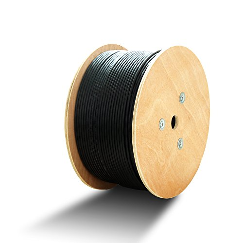 Cable Matters Cat 6 UV-Resistant PE 23 AWG UTP Solid Bulk Cable in Black - 1000 Feet by Cable Matters (Image #2)