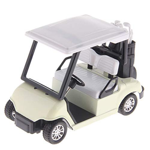 - Binory 1:20 Scale Mini Alloy Pull Back Golf Cart w/Clubs Diecast Model Vehicle Toy,Office Desk Decoration Kits Birthday Gift Toy for Kids Adults(White)