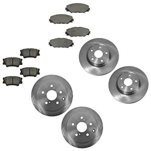 (Ceramic Disc Brake Pad & Rotor Kit Front Rear Set for 06-12 Toyota)