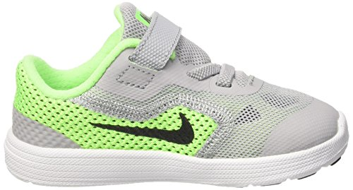 Nike Revolution 3 (TDV) - Zapatillas para niños, multicolor Multicolor (VOLTAGE GREEN / BLCK WLF GRY VLT)