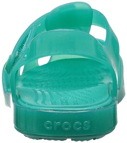 crocs Mädchen 204035 Closed-Toe Ballerinen blau / grün