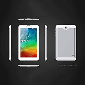 Cewaal 7 inch Phablet Unlocked 3G, Quad Core Android Tablet PC/Smartphone, 2GB+16GB Wifi Bluetooth OTG Dual Camera, IPS 1024X600 Display, support Google Play Store, Youtube, Netflix, Silver