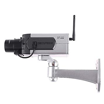 SODIAL(R) Camara IP virtual inalambrica Camara de seguridad falsa de casa con flash