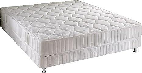 Simmons Ibiza - Conjunto de colchón y somier, Blanco, Blanco, 160 x 200 cm sommier 2x80: Amazon.es: Hogar