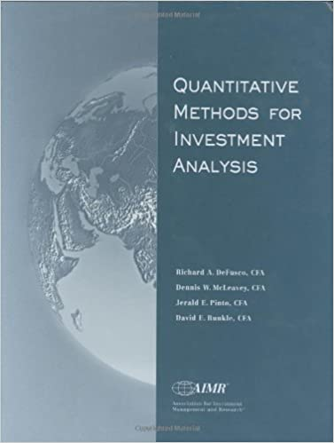 Amazon.Com: Quantitative Methods For Investment Analysis