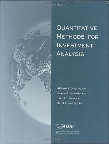 AmazonCom Quantitative Methods For Investment Analysis