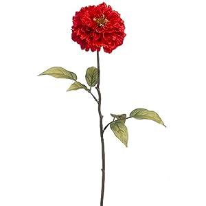 "28"" Silk Zinnia Flower Spray -Flame (Pack of 12) 100"