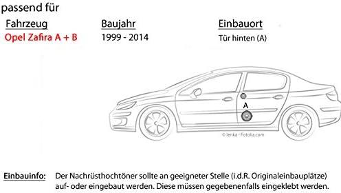 Opel Zafira A B Tür Hinten Lautsprecher Boxen Crunch Gts5 2c 13cm 2 Wege System Gts 5 2c Auto Einbauzubehör Einbauset Navigation
