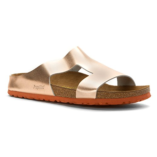 Birkenstock Charlize Sandals - Metallic Copper Leather - Womens - - Metallic Copper Leather