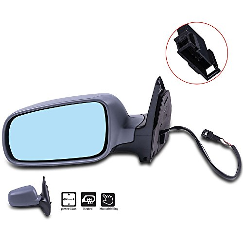 SCITOO Driver Left Door Mirror fit 1999-2006 VW Volkswagen Golf Jetta 2006 Jetta Wagon 07-10 Jetta Sedan Heated Power Adjusted Manual Folding Side Mirror