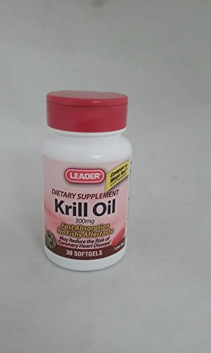 Leader Krill Oil 300mg , 30 Softgels Per Bottle (11 Pack) by Leader