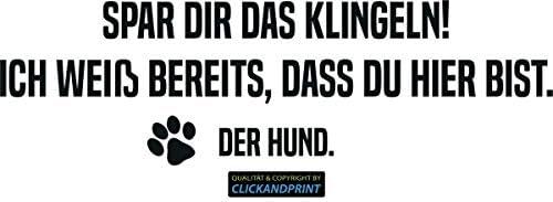 CLICKANDPRINT Aufkleber » Spar dir das Klingeln, 280x83,9cm, Carbon 3M DiNoc schwarz matt • Dekoaufkleber/Autoaufkleber/Sticker/Decal/Vinyl