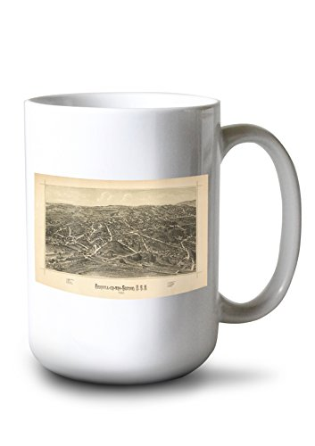 Lantern Press Fishkill, New York - Panoramic Map (15oz White Ceramic ()