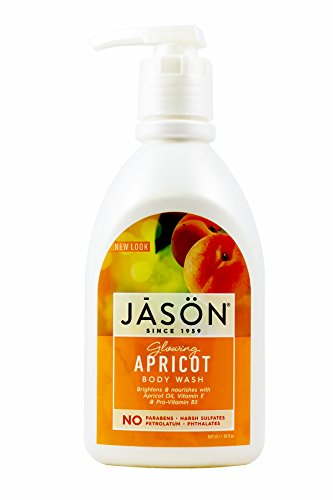 Jason Natural Products Apricot Satin Shower Body Wash, 30 Ounce - 3 per - Gel Apricot