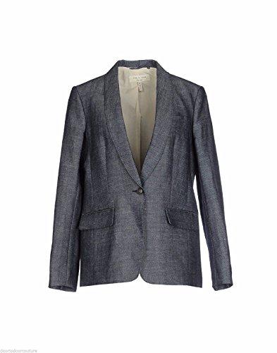 rag & bone Milly Cotton/Hemp Oversized Blazer, Indigo Blue- Size Small