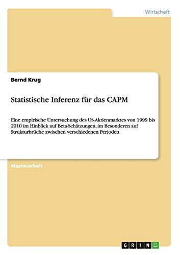 Statistische Inferenz Fur Das Capm (German Edition)