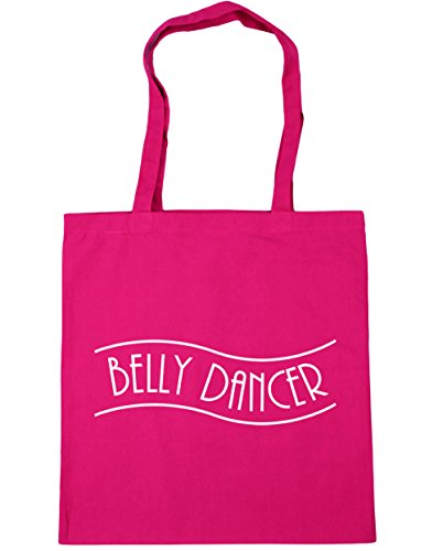 HippoWarehouse Belly Dancer Tote Compras Bolsa de playa 42 cm x38 cm, 10 litros fucsia