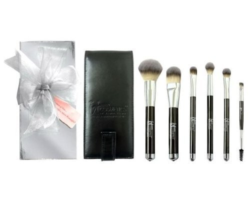 It Cosmetics Heavenly Luxe 6-pc Brush Collection with Travel Case ,