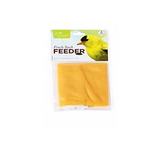 Pacific Bird Nyjer Seed Bird Feeder Finch Thistle Sock White Yellow 2pc 24X4.7'' by Pacific Bird and Supply Co