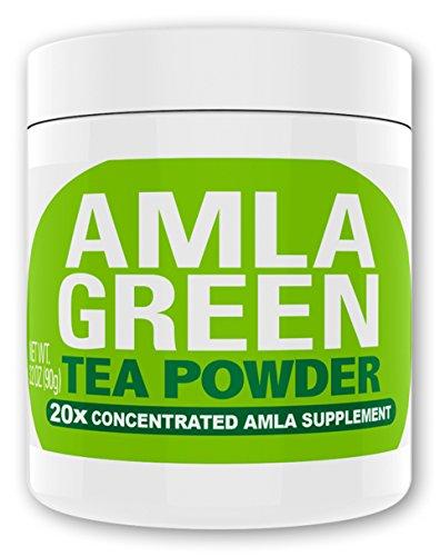 Super Orac Antioxidant (Amla Green Tea Superfood Antioxidant Powder   20x Amla Concentrate + Dark Green Oolong Tea (Organic Amla, Vegan, Raw, non-GMO, Wild Harvested) (90 doses))