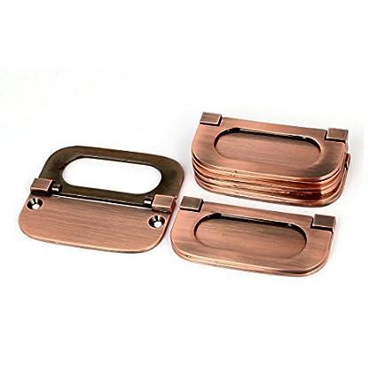 eDealMax armario del cajón del gabinete de metal de montaje empotrado Tirador de puerta de cobre