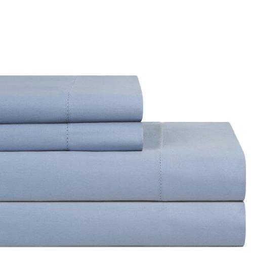 Pointhaven 600 TC Supima Cotton Sheet Set, King, Dusty Blue